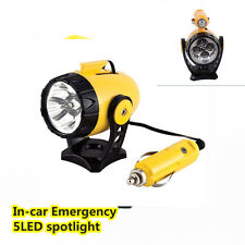 NEW 12V 5LED Car magnetic Spotlight Torch Emergency Working Lamp Warning Light
