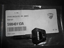 Genuine Ducati Blank Key Monster / SS 600 750 900 ST2 ST4 888 748 916 996 998