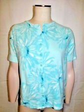 Mountain Lake top blouse shirt short sleeve floral multicolor womens size M