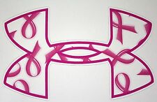 Under Armour Breast Cancer Pink Ribbon Car/Window Decals Stickers- Set of 3