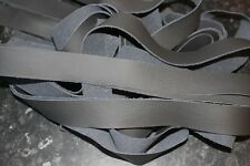 "2x Phantom Grey leather straps 60"" long CRAFT/SCRAPS/REMNANT/OFFCUT/REPAIR"