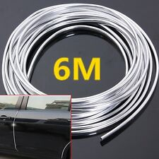 6M Chrome Moulding Trim Strip Auto Door Edge Scratch Guard Protector Cover Mold
