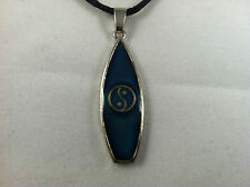 New Ying Yang Surfboard Mood necklace Color Change Mood Pendant on Black Cord