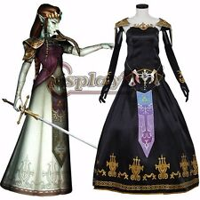 Legend of Zelda Twilight Princess Cosplay Dress Zelda Adult Women Halloween