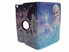 IPAD MINI 1 / 2 / 3 CASE COVER  FROZEN ELSA DISNEY CARTOON 360 DEGREE ROTATE
