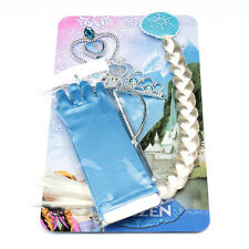 NEW FROZEN DISNEY PRINCESS ELSA GLOVES PLAIT TIARA AND WAND SET FAST N FREE POST