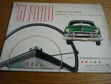 FORD usa deluxe & custom prestige brochure 1951 JM