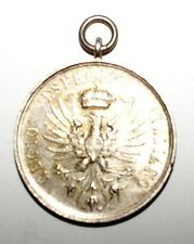 Decoration Medaillon Scuola  di Cavaleria Pinepolo Italie en argent (7823 M)