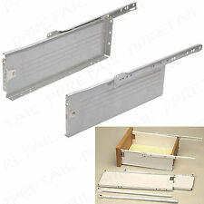 DRAWER SLIDE RUNNERS ~400 x 150mm~KITCHEN ROLLER SET/BOX SIDES/REPLACEMENT/WHITE