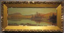 Philip Butler c.1890's Amesbury MA artist lake scene painting Boston framer