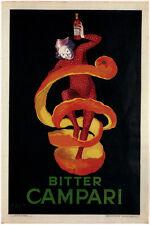 vintage ad poster BITTER CAMPARI leonetto cappiello FRANCE 1921 24X36 STYLE
