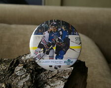 Hockey 9 Justin Hickman Center Seattle Thunderbirds Round Metal Pin Pinback Butt