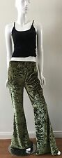 Urban Outfitter Urban Renewal Pants Velour Flare Bottom Moss Size Medium NWT $69
