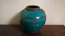 Ruscha Fat Lava West German Turquoise glaze vase