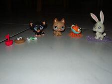 Littlest Pet Shop Tiere - Hase, Hund Katze Frosch Napf Knochen