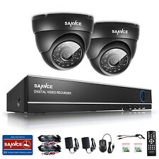 SANNCE 1200TVL In Outdoor 4CH 1080N DVR 720P HD-TVI Home Surveillance Camera Kit