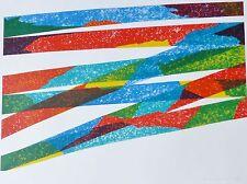 """Piero Dorazio """"NORTH-SOUTH"""" 1976 HAND SIGNED ORIGINAL LITHOGRAPH Italian Artist"""