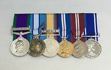 GSM Ireland, Cyprus, Gulf, 2 Jubilees, Police LSGC, Full Size Mounted Medals