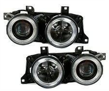 ANGEL EYES HEADLIGHTS SET for BMW 7 Series E32 5 Series BMW E34 in Black finish