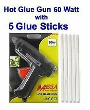 Hot Melt Glue Gun 60 W + 5 Pcs BIG Glue Sticks Free