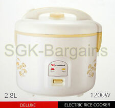 2.8L ELECTRIC RICE COOKER POT WARMER NON STICK COOK AUTOMATIC RICE 18 CUPS PRO