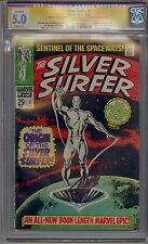 SILVER SURFER #1 CGC 5.0 OFF-WHITE PAGES SIGNED STAN LEE