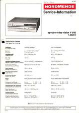 Nordmende Original Service Manual für spectra video vision V 500