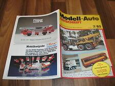 MODELL-AUTO 7/1985 -- DAF Bergungsfahrzeug / DANISH Ess-Food-Container / Porsche