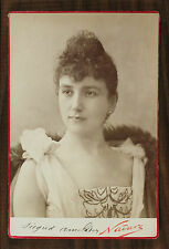 Sigrid Arnoldson Opéra Singer Photo Cabinet Card Nadar Paris