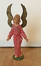Vintage Early Fontanini Depose Italy Angel Pink Nativity Figure Spider Mark #51