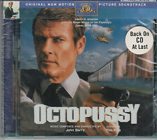 JAMES BOND OCTOPUSSY JOHN BARRY RARE OOP 1998 SOUNDTRACK CD WITH BONUS MATERIAL