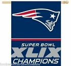 "New England Patriots 27 x 37"" Vertical Flag 2014 Super Bowl 49 Champions"
