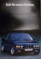 Prospekt  BMW 7er E32 Neuvorstellung Sept. 1986, innen schönes DIN A2 Plakat