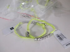 Lot of 12 GAP Woven Rope Crystal Toggle Friendship bracelet NWT $14.95 EA YELLOW