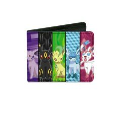 Pokemon Eevee Panels Evolution Nintendo Licensed NWT Bi-fold Wallet - Multi