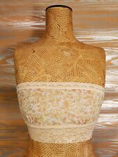 $28 FREE PEOPLE intimately Ivory Lace Metallic Shimmer Floral Bandeau Tube Bra