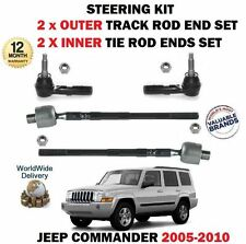 FOR JEEP COMMANDER 2004  2x INNER + 2x OUTER STEERING TRACK RACK TIE ROD END SET