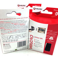 VELCRO¨ STICK ON 20mm x 1 meters BLACK HOOK AND LOOP SELF ADHESIVE STICKY BACK