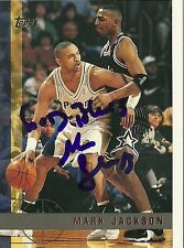 MARK JACKSON INDIANA PACERS SIGNED AUTOGRAPHED 1997 TOPPS CARD #105 W/COA
