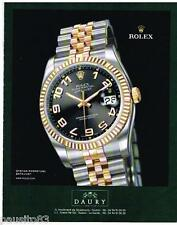 PUBLICITE ADVERTISING 105  2006  ROLEX  montre OYSTER PERPETUAL DATEJUST