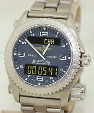 NR MINT 1999 Titanium Breitling Emergency E56121.1 - Box & Papers