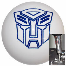 Transformer Autobot White Blue shift knob for Dodge Chrys auto stk w/ adapter