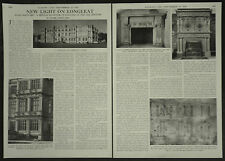 New Light On Longleat House Allen Maynard Sculptor 1956 4 Page Photo Article