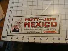 Vintage Early MUTT & JEFF in MEXICO, blotter, 1913