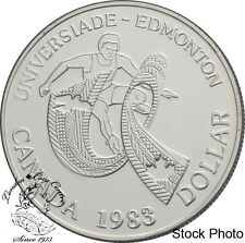 Canada 1983 $1 World University Games BU Silver Dollar Coin - Capsule Only