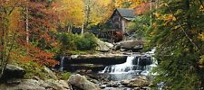 Photo Wallpaper Mural Water Mill Waterfall Forest Nature 202x90cm - FTG 0912