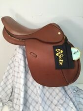 "Exselle Tan Jumping Saddle Chasseur 17 1/2"" Wide Tree Walsall Royal Co.New"