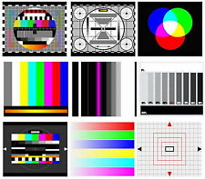 TV TEST CARD / Video PATTERN Generator & test toni DVD: AV Systems PAL & NTSC
