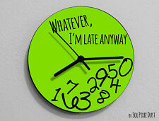 Whatever I'm Late Anyway / Round Green- Wall Clock
