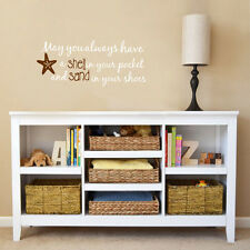 May you always have Shell...Philosophy Wall Decal Sticker Coastal Decor Starfish
